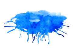 Blue stain paint Royalty Free Stock Photography