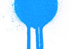 Blue stain on white Stock Image