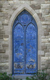 Blue Stained Glass Church Window Royalty Free Stock Photo