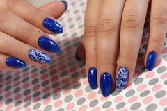 Manicure design blue sky Stock Images