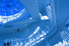 Blue stair in modern office Royalty Free Stock Image