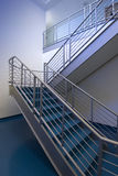 Blue staircase stock images