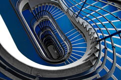 Blue staircase Stock Photography