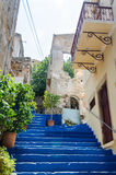 Blue staircase Royalty Free Stock Images