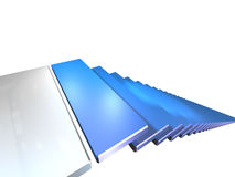 Blue stairs Stock Images