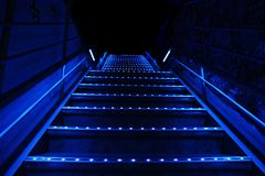 Blue stairs Royalty Free Stock Photography