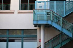Blue stairs. Beautiful blue stairs  in Honolulu Stock Photo