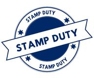 Blue STAMP DUTY stamp. Illustration graphic concept image Stock Image