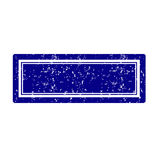 Blue stamp square. Blank retro dark blue rubber stamp Royalty Free Stock Photo