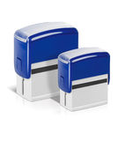 Blue stamps Stock Images