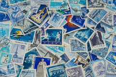 Blue stamps Royalty Free Stock Photo