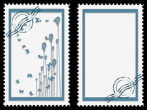 Blue stamps Stock Image