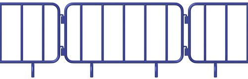 Blue stand barrier (axo view) Royalty Free Stock Image