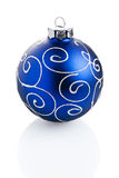 Blue Standing Christmas Ball Ornament Stock Photos