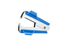 Blue staple remover Royalty Free Stock Photo