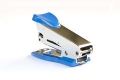 Blue stapler. On white background Royalty Free Stock Images