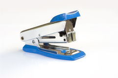 Blue stapler. On white background Royalty Free Stock Photography