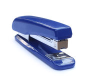 Blue stapler. Isolated over white background Stock Photo