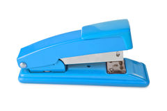 Blue stapler Royalty Free Stock Image