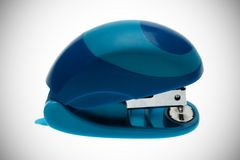 Blue stapler Stock Photo