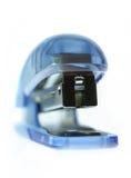 Blue Stapler. Macro shoot of a stapler stock photo