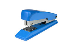 Blue stapler Stock Images