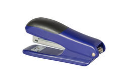 Blue stapler isolated on white background Royalty Free Stock Photos