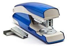 Blue stapling machine Stock Photography