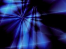 Blue star. Blue fantasy star on black background Royalty Free Stock Photos