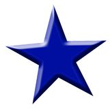 Blue star. Royalty Free Stock Images