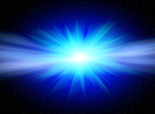 Blue star. Flash bright blue star for you design Stock Photo