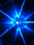 Blue star. This is a fragment of cd lamp Stock Photo