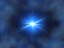 Blue star. And nebula royalty free illustration
