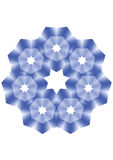 Blue star. Decorative element. Star light of the evening sky, a disco ornament Stock Photography