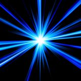 Blue Star. Brilliant blue star exploding in deep outer space Royalty Free Stock Photography