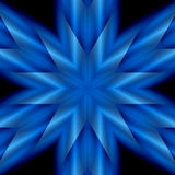 Blue Star. An abstract illustration of a six pointed holiday star stock illustration