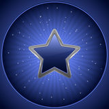 Blue star. Abstract background - blue night star Royalty Free Stock Image