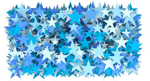Blue star abstract Stock Images