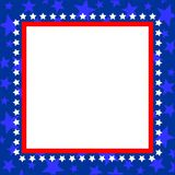 Blue star American photo frame for your design. stock images
