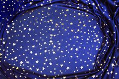 Blue star background Stock Photography