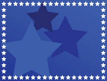 Blue star background Stock Image