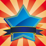 Blue star badge Royalty Free Stock Image