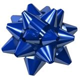Blue star bow. On white background Royalty Free Stock Photo