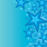 Blue star bright side card Stock Image