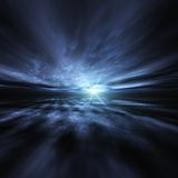 Blue Star Burst Background Stock Image