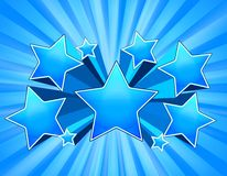 Blue Star Burst Background Royalty Free Stock Photos