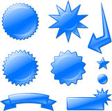 Blue star burst designs Stock Photos