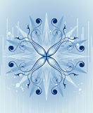 Blue star burst shape design Royalty Free Stock Photography