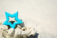 Blue star Stock Photography