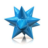 Blue star. 3d illustration of blue star Royalty Free Stock Image